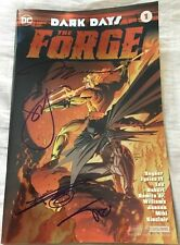 Jim Lee Miki Sinclair Snyder signed auto Dark Days Forge 1 foil variant DC comic