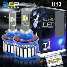 H13 9008 LED Headlight Conversion Kit 1800W 195000LM High Low Beam Bulbs 6000K
