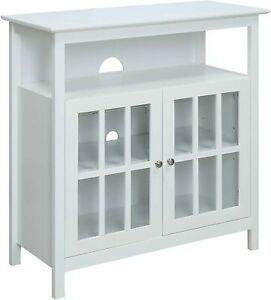 Convenience Concepts Big Sur Highboy TV Stand White 8066070W