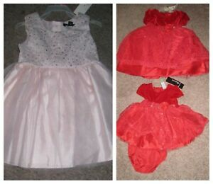 choice new holiday DRESS 3-6 , 6-9 , 12 , 18 months , 2T 3T 4  5 red pink
