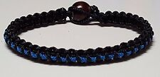 Thin Blue Line Police & Law Enforcement Officer Unisex Microcord (Thin) Bracelet