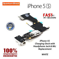 WHITE Replacement Charging Dock/Port Assembly + Headphone Jack - FOR iPhone 5S