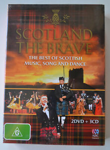 Scotland The Brave - Music Song & Dance - 2 x DVDs & 3 CDs - New and Sealed