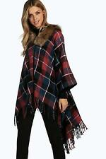 Checked Cape Coats & Jackets for Women