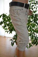 Karostar Lexxury Capri Boyfriend Jeans 3/4 Hose Bermuda 42 Stretch 2RV Neu Italy