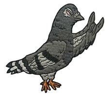 METAL PIDGEON EMBROIDERED PATCH BY CREAMLAB
