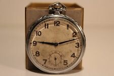"Antique Art Deco Swiss Open Face Pocket Watch Chronometre ""Enila""15 Jewels"