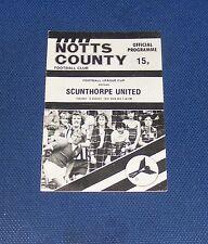 Notts County -v- Scunthorpe United 1978-1979