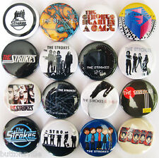 THE STROKES Button Badges Pins Room on Fire Is This It Angles Soma Lot of 16