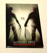 Vintage Freddy vs. Jason Horror Movie Collectors Button Pin 2003 Video Promo