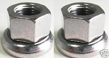Formula Axle Nuts REAR 10mx1 SILVER no-slip Fits track fixed gear bike hubs 2pcs
