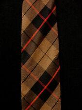 Vintage 1950'S-1960'S Cotton Square Black, Brown Tie