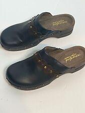Natural Soul Terina Black Slip on Clogs Mules Shoes Size 8M