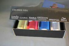Farbige Folie Alu für Farbe und Tönung 4 Rollen Wella Londa