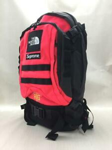 New Supreme x THE NORTH FACE RTG Backpack Pink x Black Nylon 2020ss Unused JAPAN
