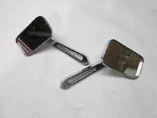 Pair Harley Davidson Touring Softail Dyna & Sportster Square Rear View Mirrors