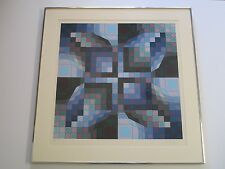 VICTOR VASARELY SERIGRAPH RARE ABSTRACT GEOMETRIC POP ART MODERNIST LIMITED VNTG