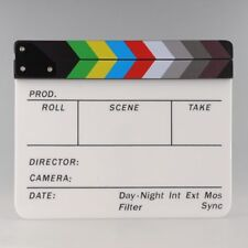 Clapper Board Slate TV Film Movie Acrylic Clapperboard coloured Seller UK