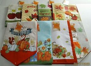 """THANKSGIVING/FALL  TABLE RUNNER ASSORTMENT #1 13"""" X 36"""" {Your choice}"""