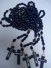 WOOD ROSARY purple color  5 pieces from Medjugorje16.5