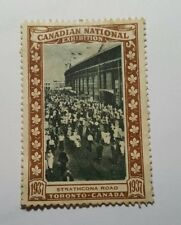 Rare 1937 Canadian National Exhibition commemorative stamp - CNE Strathcona Road