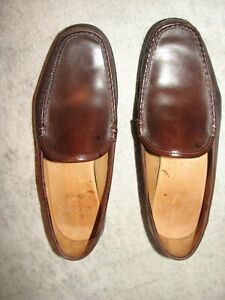 Allen Edmonds Conway Men Brown Leather Driving Loafer Shoes 9.5 E
