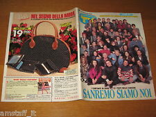 TV SORRISI E CANZONI=1993/8=FESTIVAL SANREMO=SISTER ACT=BRUNO VESPA=