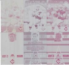 TROY AIKMAN lot of 6 Printer's Plates 1995 Edge Instant Replay #6 All 1/1's
