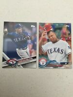 ADRIAN BELTRE Texas Rangers Lot (2) Topps New Era SP Promo Cards 2017 & 2018