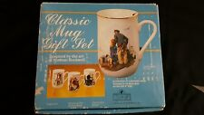 Classic Mug Set Inspired by the Art of Norman Rockwell