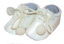 Sevva Joe Romany Spanish Style Patent Cream Pom Pom Boots Soft Baby Pram Shoes