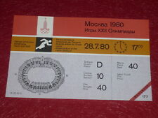 JEUX OLYMPIQUES OLYMPIC GAMES MOSCOU 1980 TICKET ATHLETISME 28.7.80 (17h00) TTBE