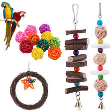 Pet Bird Parrot Parakeet Budgie Cockatiel Cage Toys Hanging Chewing Toy Decor