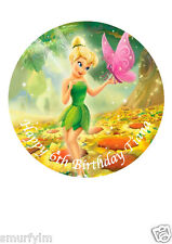 "Tinker Bell Disney Cake Topper Party Personalized Edible Wafer Paper 7.5""img a22"
