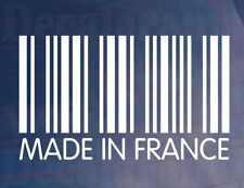 Made in France code-barres Novelty car/Van/Window/Anti-Chocs French Euro Vinyle Sticker