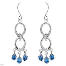 Chandelier Oval Topaz Fine Earrings