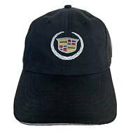 Cadillac Hat Mens Strapback Black Embroidered Logo Cap