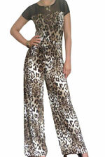 Polyester Animal Print Machine Washable Jumpsuits, Rompers & Playsuits for Women