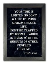 Steve Jobs Quote 1 Your Time Is Limited Motivational Large Poster Plakat Print