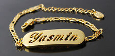 YASMIN - Bracelet With Name - 18ct Yellow Gold Plated - Gifts For Her - Fashion