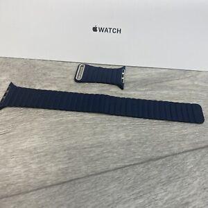 Genuine Apple Watch Leather Loop Band Strap midnight Blue 42/44mmMedium