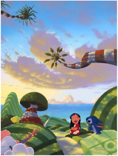 Disney Fine Art Limited Edition Canvas A Tropical Idea-Lilo+Stitch-Provenza