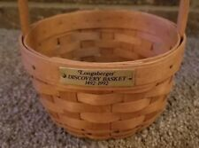 Longaberger Columbus Discovery Basket 1492-1992 with Brass Plate
