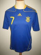 Ukraine MATCH WORN Shevchenko away football shirt soccer jersey maillot size M