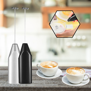 Milk Frother Mixer Whisk Electric Egg Beater Coffee Foamer Kitchen Black AMAZING