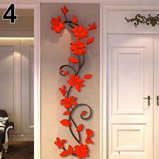 Acrylic Wall stickers DIY 3D flowers living room bedroom wall decor Mural Art
