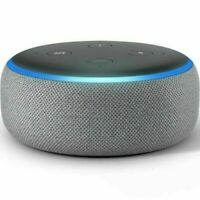 🔥 Brand New! Amazon Echo Dot 3rd Generation- Heather Gray with Power Adapter 🔥