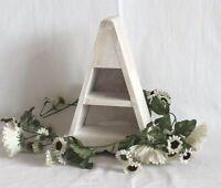 03 Holz Pyramide weiß 2 Fächer Regal Kommode Schrank Kiste