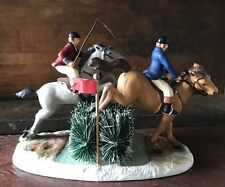 Dept 56 Dickens Village Line The Steeplechase Figurine Horse Equestrian Race