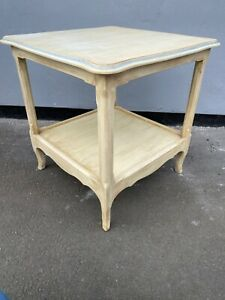 Modern Antique Style Old English White Side / Lamp Table